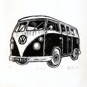 (CreativeWork) 1965 VW BUS Ed. 9 of 15 by Matthew Broughton. print. Shop online at Bluethumb.