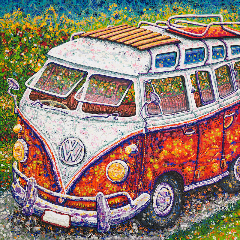 (CreativeWork) Happy Memories by Tina Dinte. arcylic-painting. Shop online at Bluethumb.