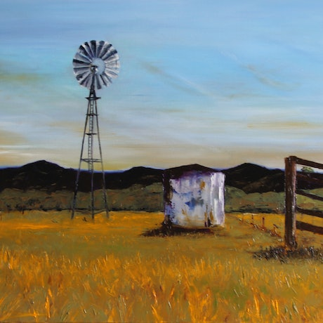 (CreativeWork) Country Life by Angie Aubert. Oil Paint. Shop online at Bluethumb.