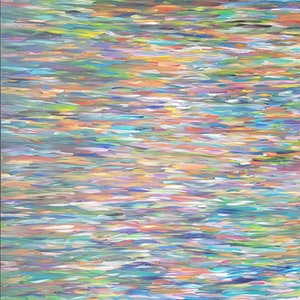 (CreativeWork) Vibrant waters by Jennifer Jarvis. arcylic-painting. Shop online at Bluethumb.