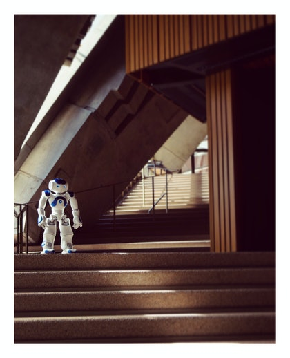 (CreativeWork) Robot Usher - Steps by Alex Weltlinger. photograph. Shop online at Bluethumb.
