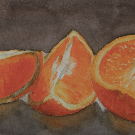 (CreativeWork) ORANGES-STUDY by JAN LAWNIKANIS. Watercolour Paint. Shop online at Bluethumb.