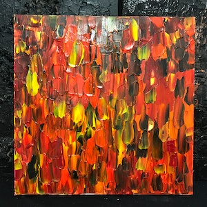 (CreativeWork) Fire licks by kelly mathews. arcylic-painting. Shop online at Bluethumb.