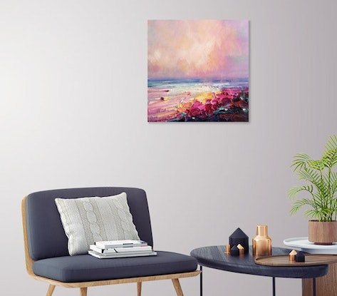 (CreativeWork) Summer vibes #7 by Liliana gigovic. Oil. Shop online at Bluethumb.