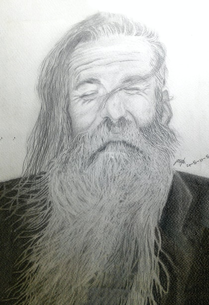 (CreativeWork) Larry by Yossi Sebban. drawing. Shop online at Bluethumb.