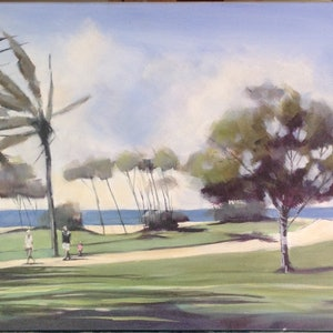 (CreativeWork) Path to the Beach by Paul Harbour. arcylic-painting. Shop online at Bluethumb.