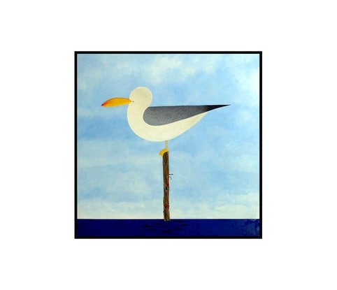 (CreativeWork) Pacific Gull by John Graham. Oil Paint. Shop online at Bluethumb.