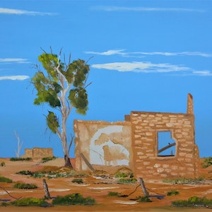 (CreativeWork) DAYS GONE BY. OIL ON CANVAS. by owen jones. oil-painting. Shop online at Bluethumb.