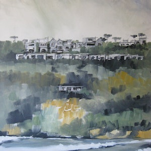 (CreativeWork) COOLUM BEACH FIRST BAY by Paul Harbour. arcylic-painting. Shop online at Bluethumb.