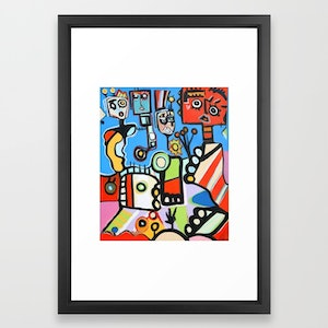 (CreativeWork) FUN CITY 2-framed Original limited edition Signed ERSKINE print Ed. 2 of 100 by DEREK ERSKINE. print. Shop online at Bluethumb.