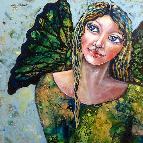 (CreativeWork) Finding Your Wings by Cheryle Bannon. Mixed Media. Shop online at Bluethumb.