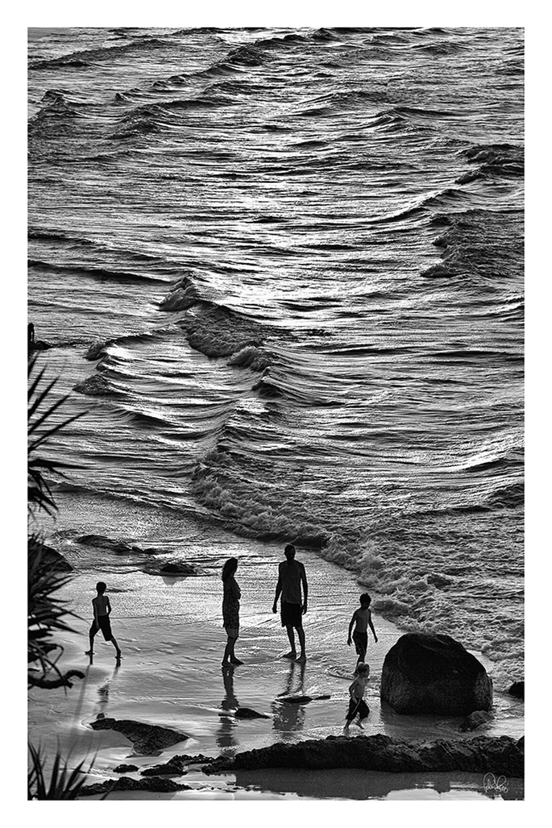 (CreativeWork) P 006 Beach Family at Sunset  by Peter Henning. photograph. Shop online at Bluethumb.