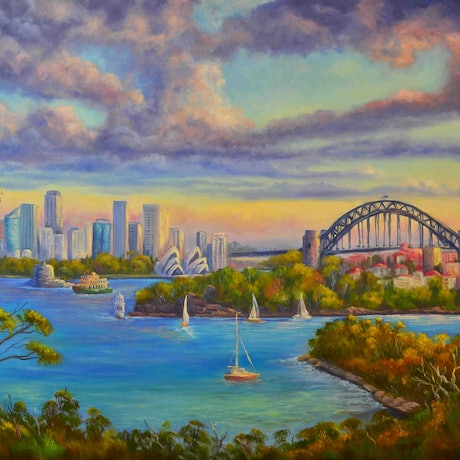 (CreativeWork) Sydney Harbour from Taronga Zoo - PRINT Limited edition 3 /100 Ed. 3 of 100 by Christopher Vidal. Print. Shop online at Bluethumb.