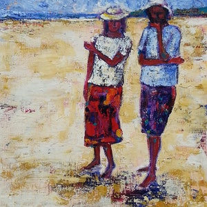 (CreativeWork) Fraser Island Talk by Lisa Elms. acrylic-painting. Shop online at Bluethumb.