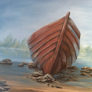 (CreativeWork) Rest on Shore by Jenny Care. arcylic-painting. Shop online at Bluethumb.