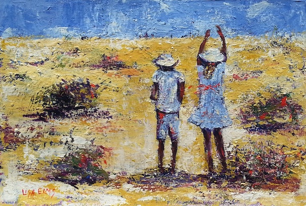 (CreativeWork) Winton Wandering  by Lisa Elms. Acrylic Paint. Shop online at Bluethumb.