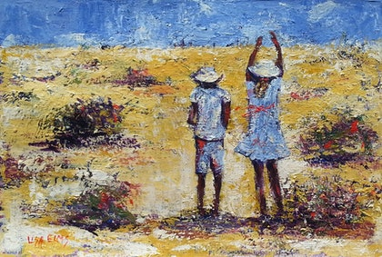 (CreativeWork) Winton Wandering  by Lisa Elms. arcylic-painting. Shop online at Bluethumb.