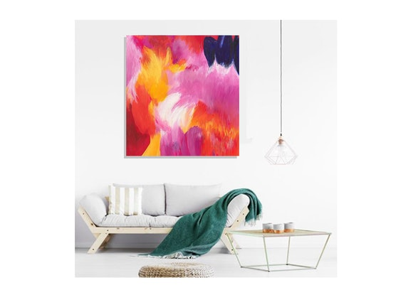 (CreativeWork) Chrysanthemum by Anne-Maree Wise. Acrylic Paint. Shop online at Bluethumb.