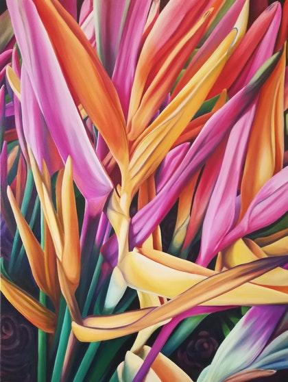 (CreativeWork) Delicious Daydream  by Louise Taylor. arcylic-painting. Shop online at Bluethumb.