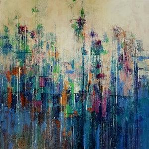 (CreativeWork) Ambient by Helen Miles. arcylic-painting. Shop online at Bluethumb.