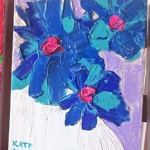 (CreativeWork) Mini Flowers  by KATE ALAO. arcylic-painting. Shop online at Bluethumb.