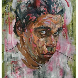 (CreativeWork) Portrait of a Young Man by Loribelle Spirovski. oil-painting. Shop online at Bluethumb.