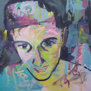 (CreativeWork) Self (graffiti) by Rachel Grove. arcylic-painting. Shop online at Bluethumb.