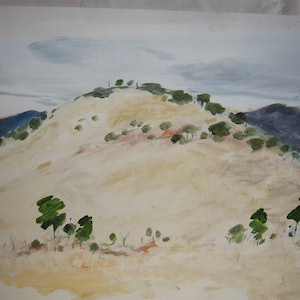 (CreativeWork) Hills at Hedlow   by Noeline Machan. arcylic-painting. Shop online at Bluethumb.