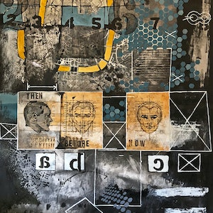 (CreativeWork) THEN, BEFORE & NOW [ 2017 ] by G Kustom Kuhl. mixed-media. Shop online at Bluethumb.