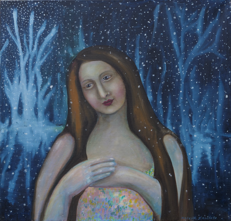 (CreativeWork) The Somnambulist by Michelle Sanger. oil-painting. Shop online at Bluethumb.