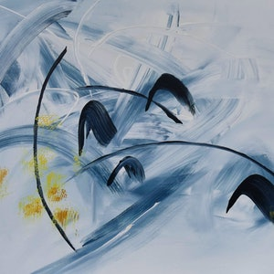 (CreativeWork) Dancing Cascade by Jennifer Whiteley. acrylic-painting. Shop online at Bluethumb.