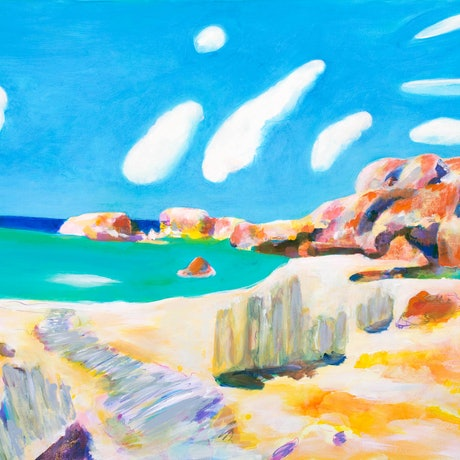 """(CreativeWork) """"Eco Beach  """" Limited Edition fine art print Ed. 1 of 25 by John Giese. Print. Shop online at Bluethumb."""