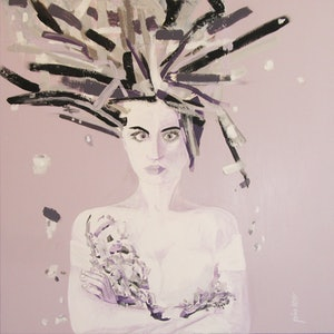 (CreativeWork) SOMETIMES  I  JUST  HAVE  TO  DISAPPEAR by Lesley Taylor. mixed-media. Shop online at Bluethumb.