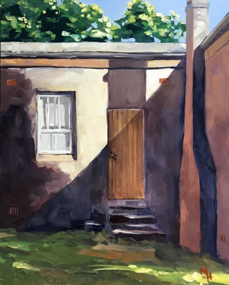 (CreativeWork) The Door by Meredith Howse. oil-painting. Shop online at Bluethumb.