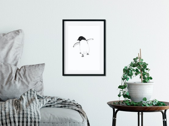 (CreativeWork) Adelie Penguin by Clare McCartney. #<Filter:0x00007f63b11a0b78>. Shop online at Bluethumb.
