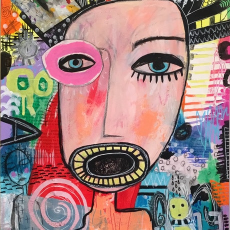(CreativeWork) Different Perspectives by Julia Trembicki. Mixed Media. Shop online at Bluethumb.