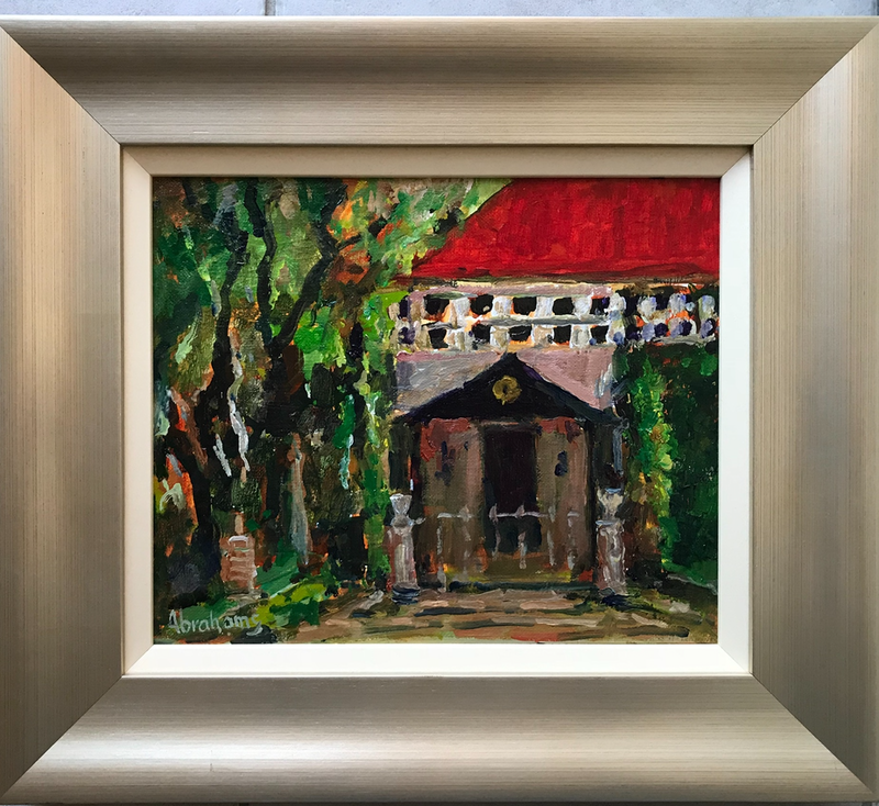 (CreativeWork) Sacred Place by Robert Abrahams. oil-painting. Shop online at Bluethumb.