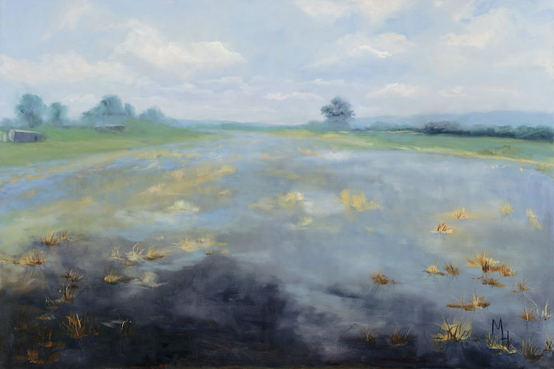 (CreativeWork) Valley of Dreams  by Meredith Howse. oil-painting. Shop online at Bluethumb.