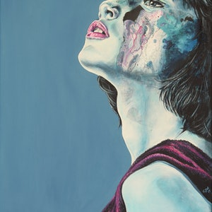 (CreativeWork) She #1 by Carli Wilson. arcylic-painting. Shop online at Bluethumb.