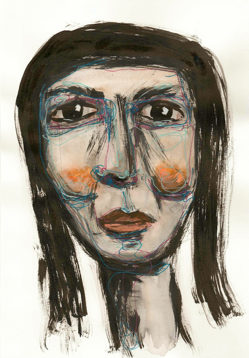 doodle face by jill robb paintings for sale bluethumb online art