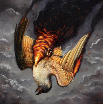 (CreativeWork) Mayday II by Sam Yong. oil-painting. Shop online at Bluethumb.
