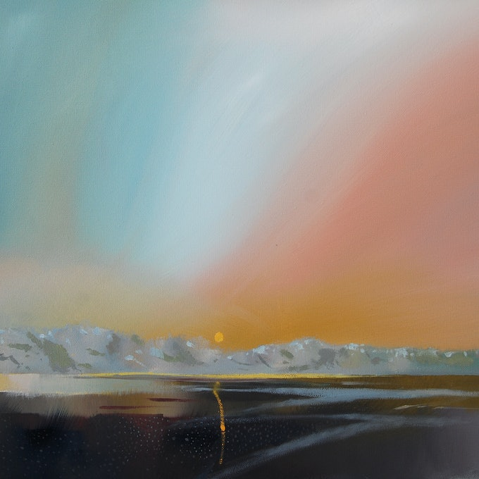 (CreativeWork) 2 worlds collide by Trevor Salisbury. oil-painting. Shop online at Bluethumb.