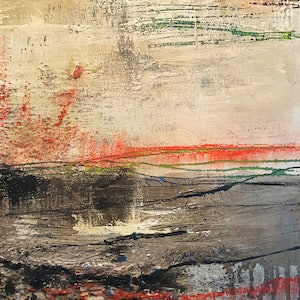 (CreativeWork) The Storm  #2 by Jane McCumstie. mixed-media. Shop online at Bluethumb.