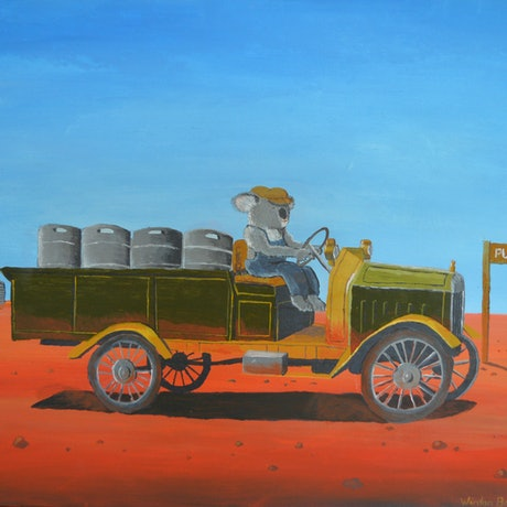 (CreativeWork) The Beer Truck by Winton Bochanowicz. Acrylic Paint. Shop online at Bluethumb.