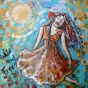 (CreativeWork) Wild and Free by Cheryle Bannon. mixed-media. Shop online at Bluethumb.