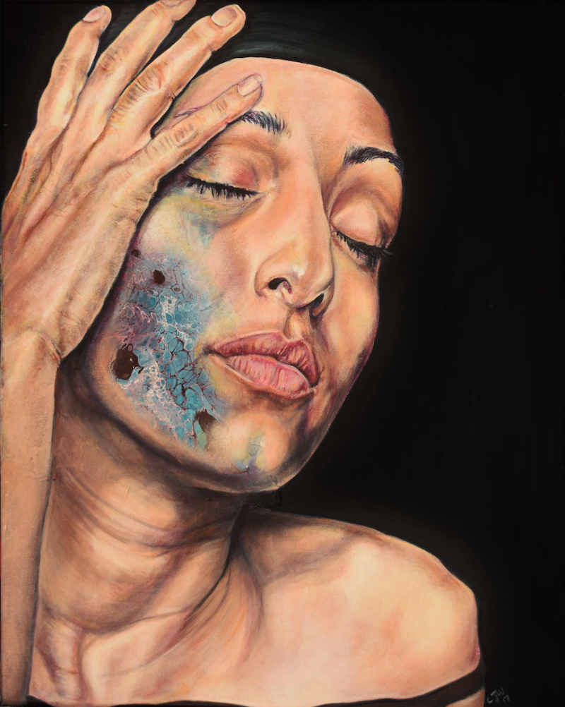 (CreativeWork) She #2 by Carli Wilson. Acrylic Paint. Shop online at Bluethumb.