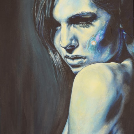 (CreativeWork) She #3 by Carli Wilson. Acrylic Paint. Shop online at Bluethumb.