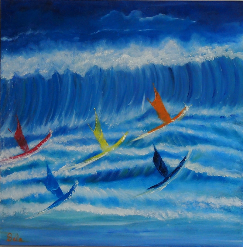 (CreativeWork) Wipe Out by Belinda McDonnell. oil-painting. Shop online at Bluethumb.