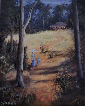 (CreativeWork) An Early Morning Stroll  by Colin Hadfield. Acrylic Paint. Shop online at Bluethumb.