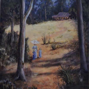 (CreativeWork) An Early Morning Stroll  by Colin Hadfield. acrylic-painting. Shop online at Bluethumb.
